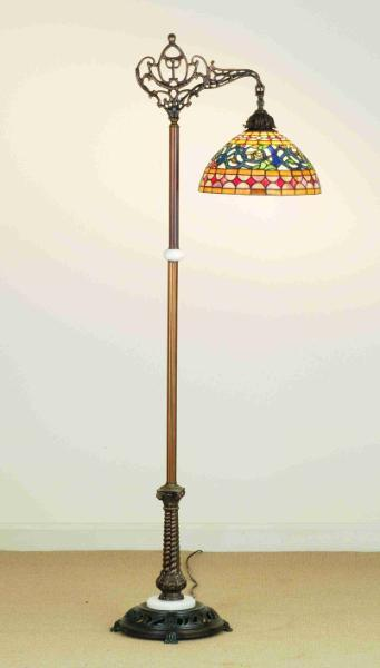 Image of: Antique Floor Lamps With Glass Shades