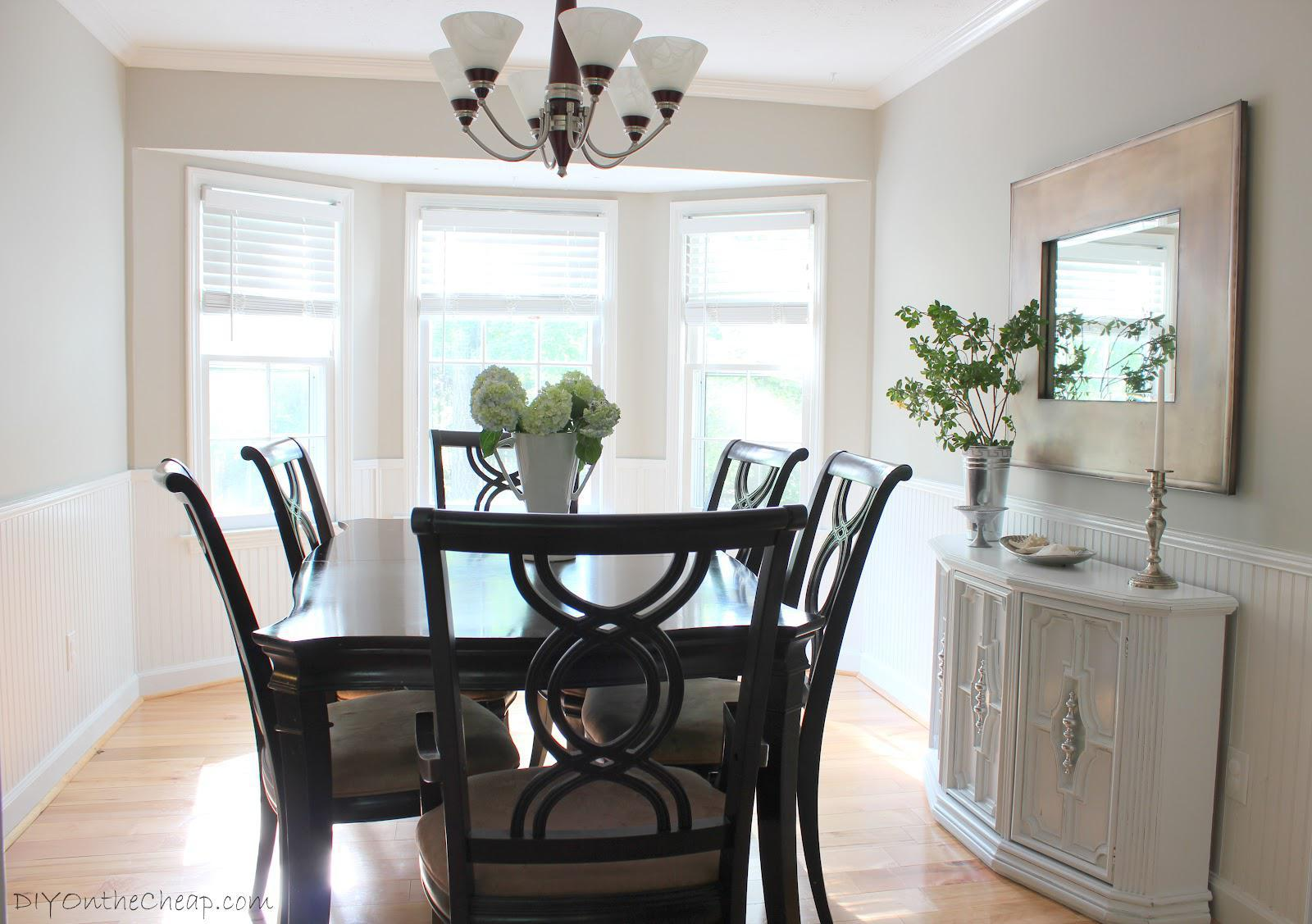 Image of: Benjamin Moore Revere Pewter Dining Room