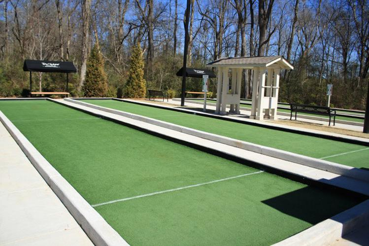 Picture of: Big Bocce Ball Court