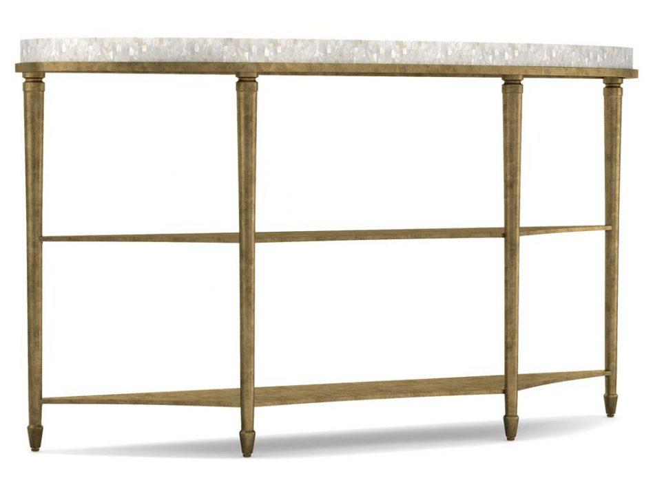 Black Demilune Console Table