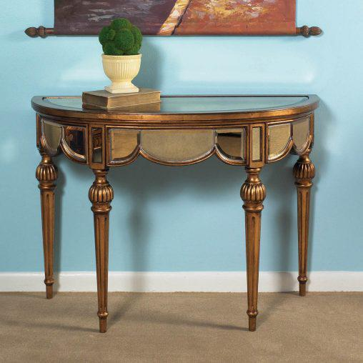 Demilune Console Table Antique