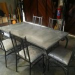 Pewter Dining Table