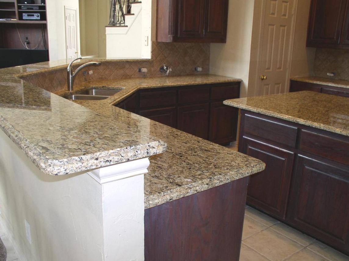 Image of: Venetian Gold Granite Tile