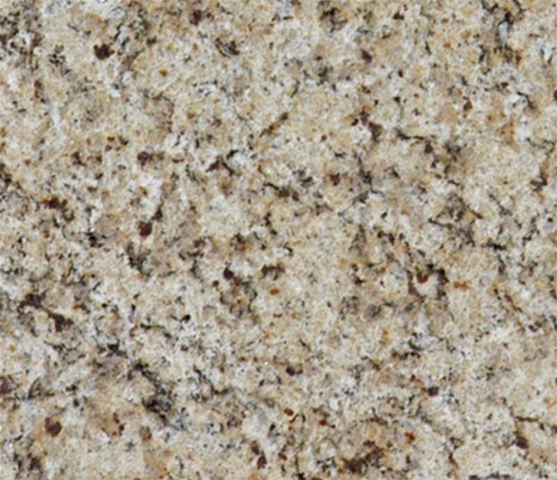 Image of: Venetian Gold Granite White Cabinets