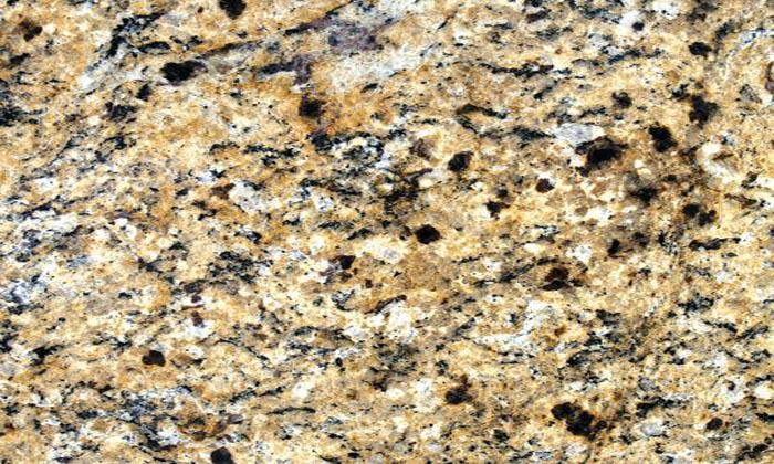 Image of: Venetian Gold Granite With Gray Cabinets