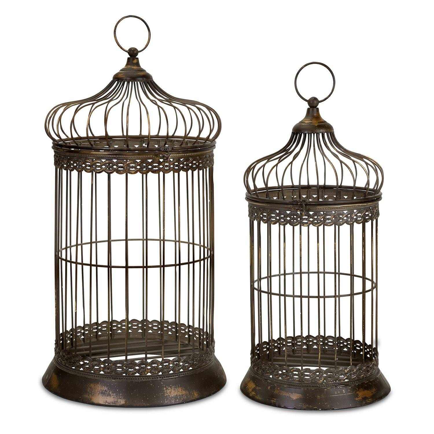 Image of: Decorative Bird Cage Candle Holder