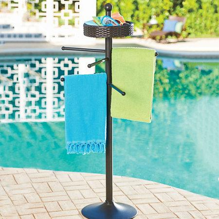 Picture of: Aluminum Pool Towel Rack