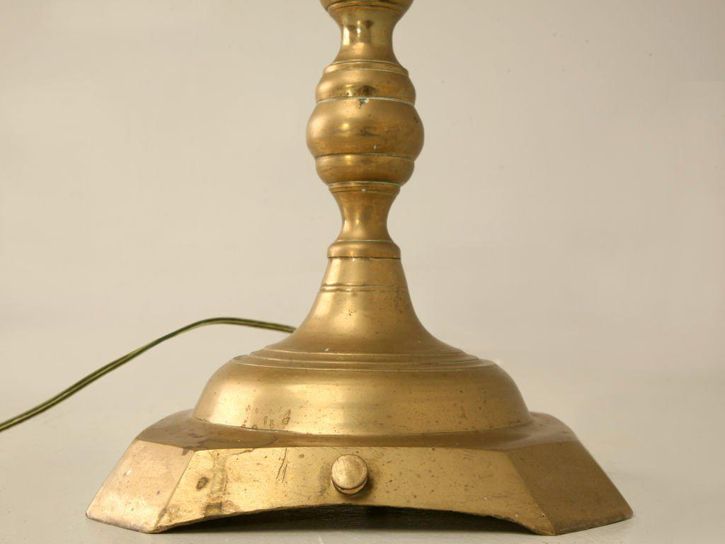 Image of: Antique Candlestick Lamps