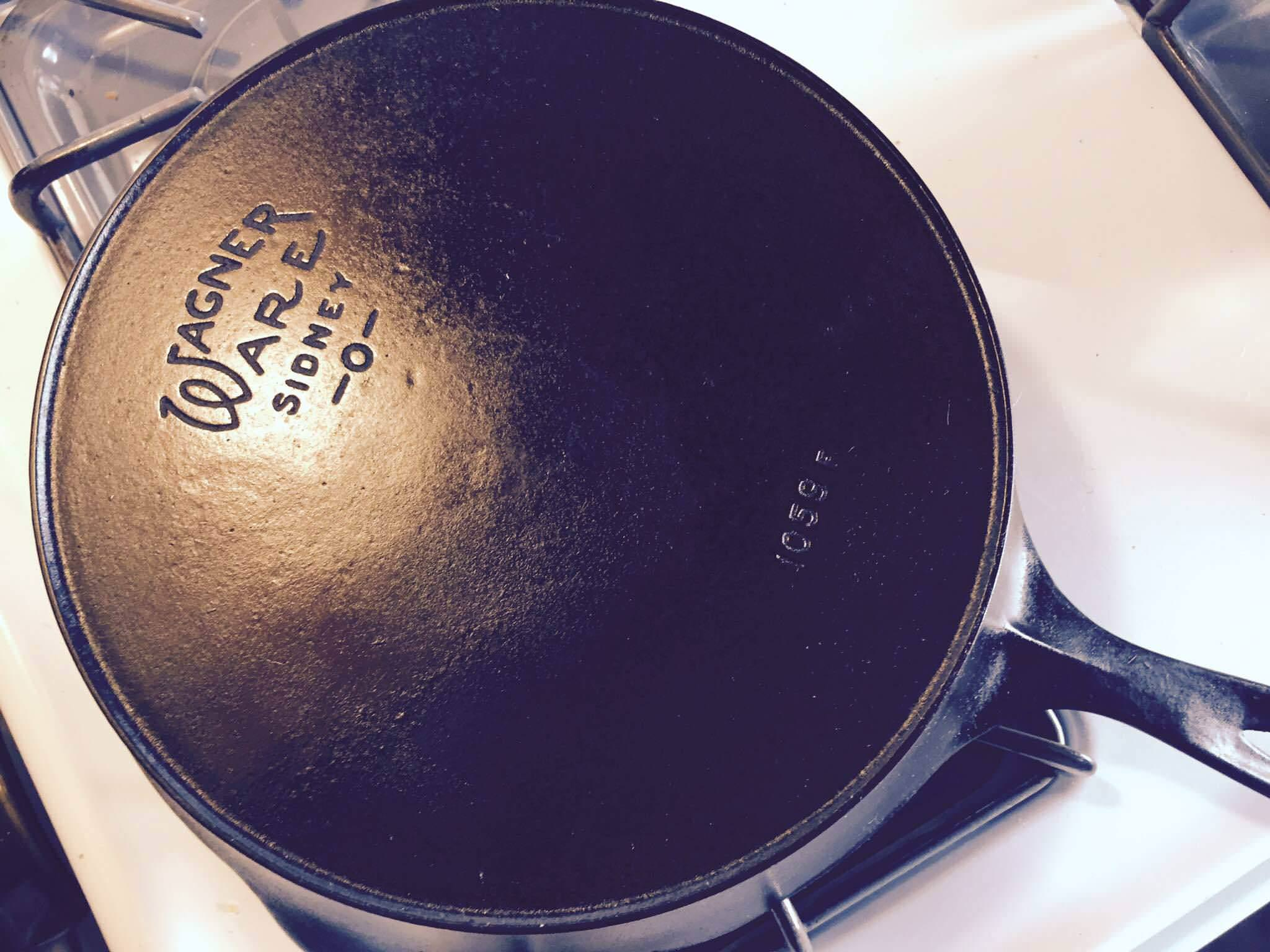 Image of: Antique Cast Iron Cornbread Skillets