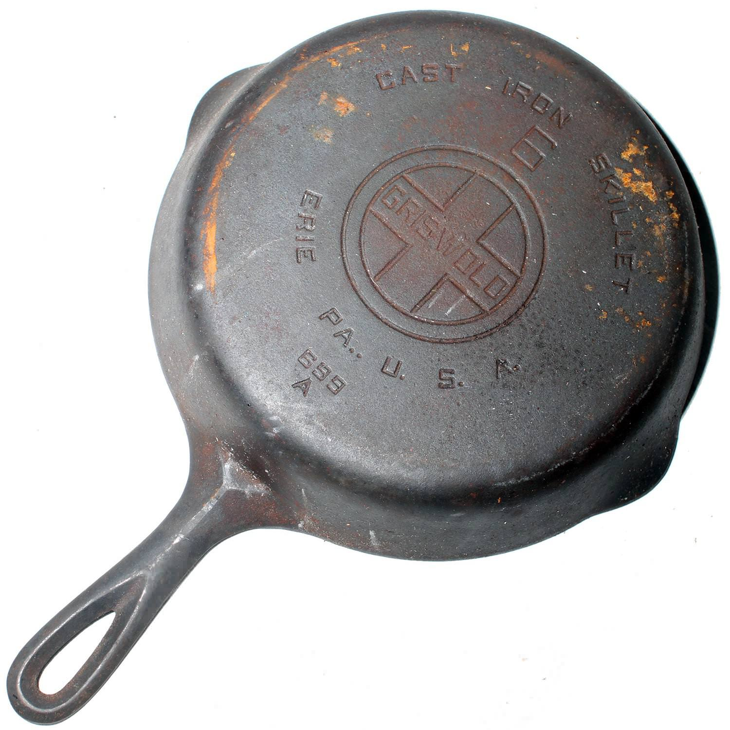 Image of: Antique Cast Iron Skillet Most Value