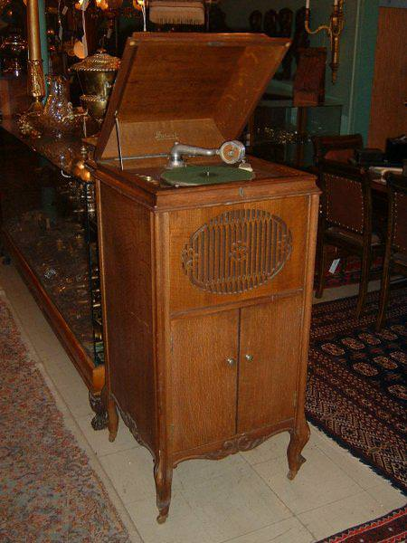Image of: Antique Record Player Cabinet