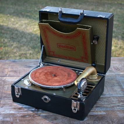 Image of: Antique Record Player Stand