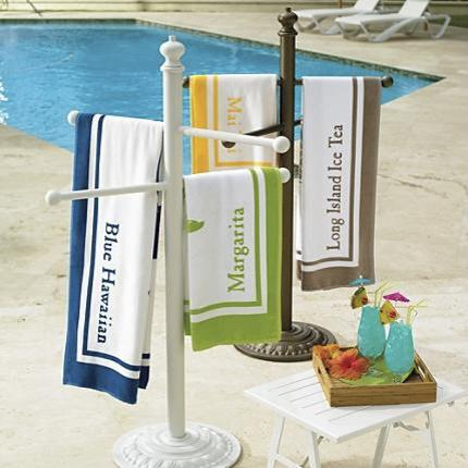 Picture of: Build A Pool Towel Rack