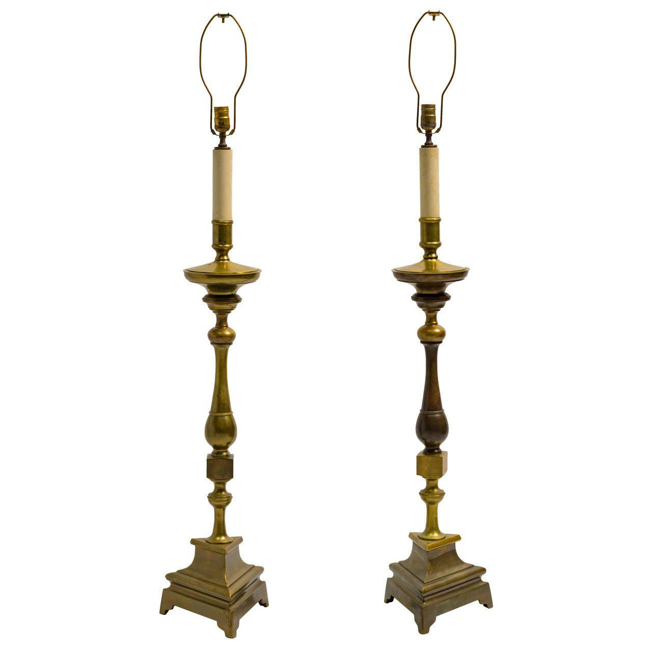 Image of: Candlestick Lamps White