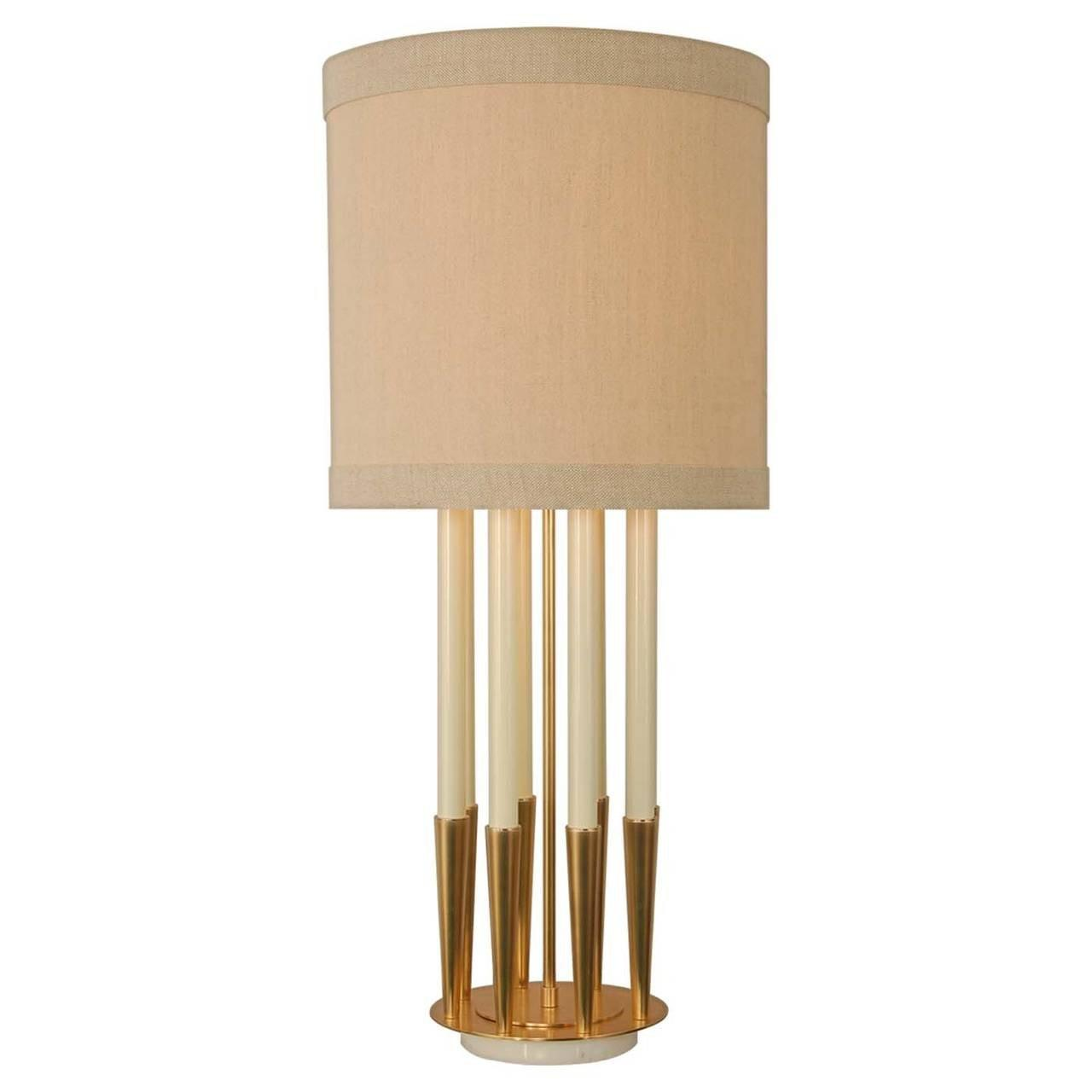 Image of: Candlestick Lamps With Shades