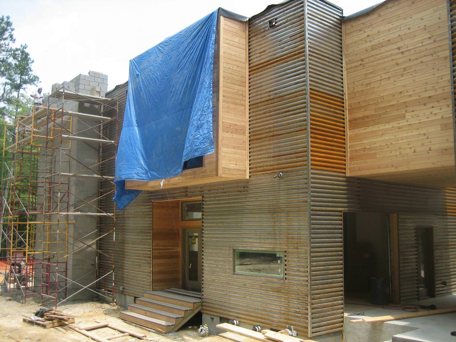 Image of: Corrugated Metal Siding Shed