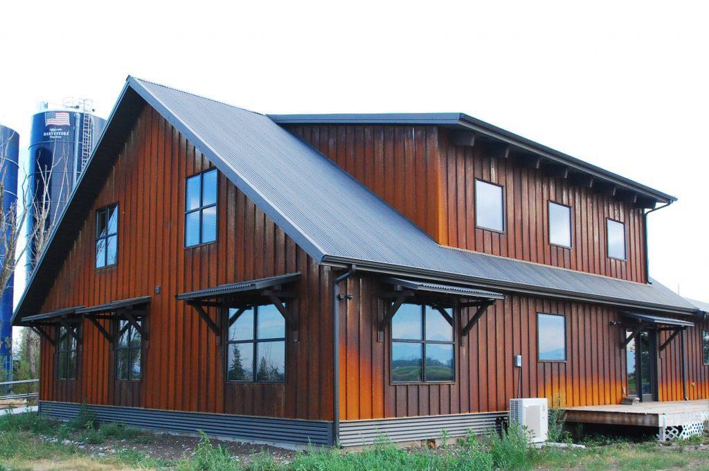 Image of: Corrugated Metal Siding Tiny House