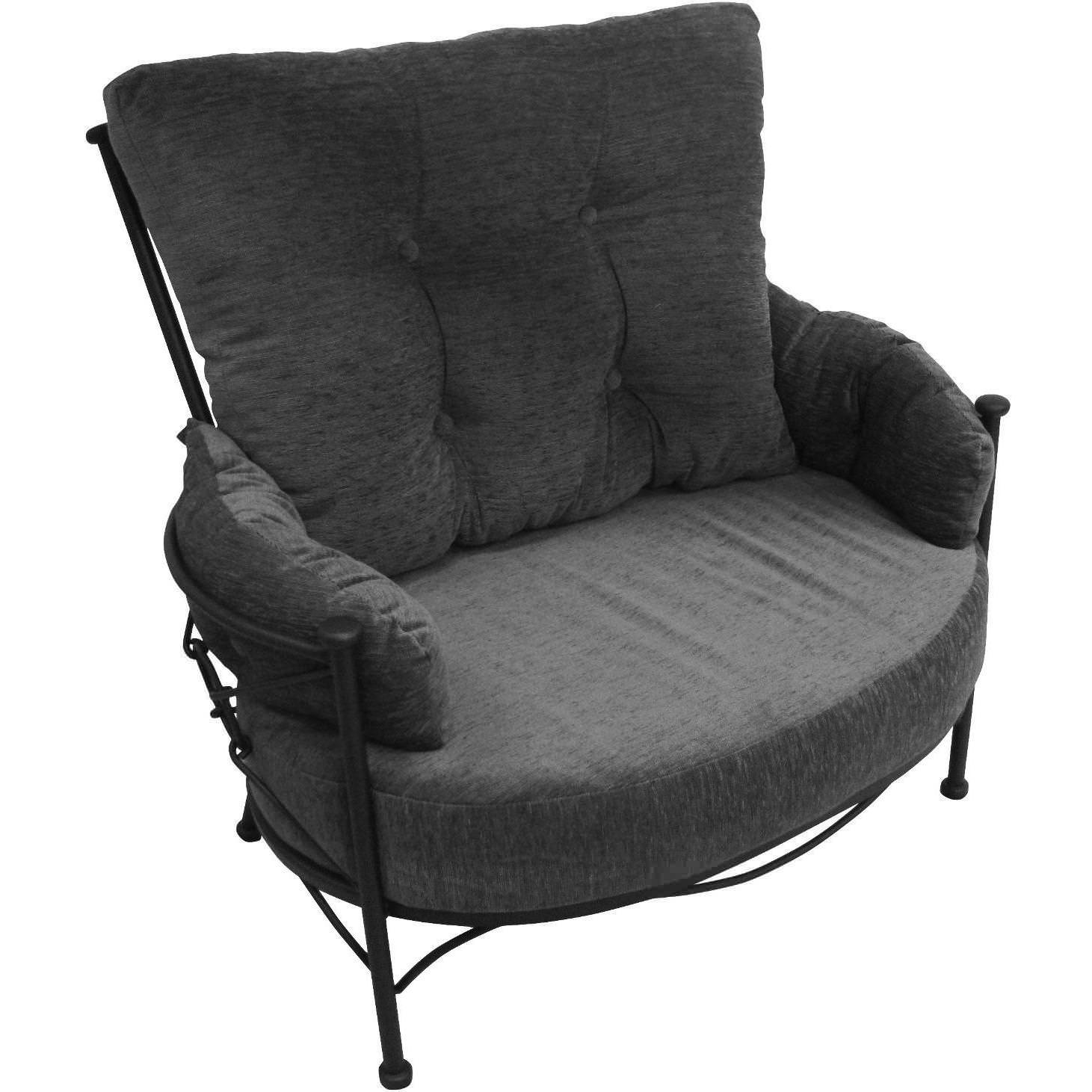 Image of: Big Cuddle Chair With Ottoman
