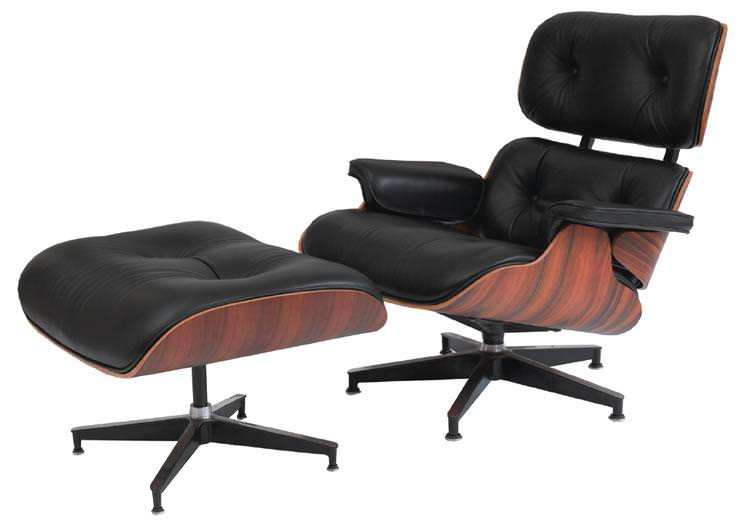 Image of: Eames Lounge Chair Dimensions