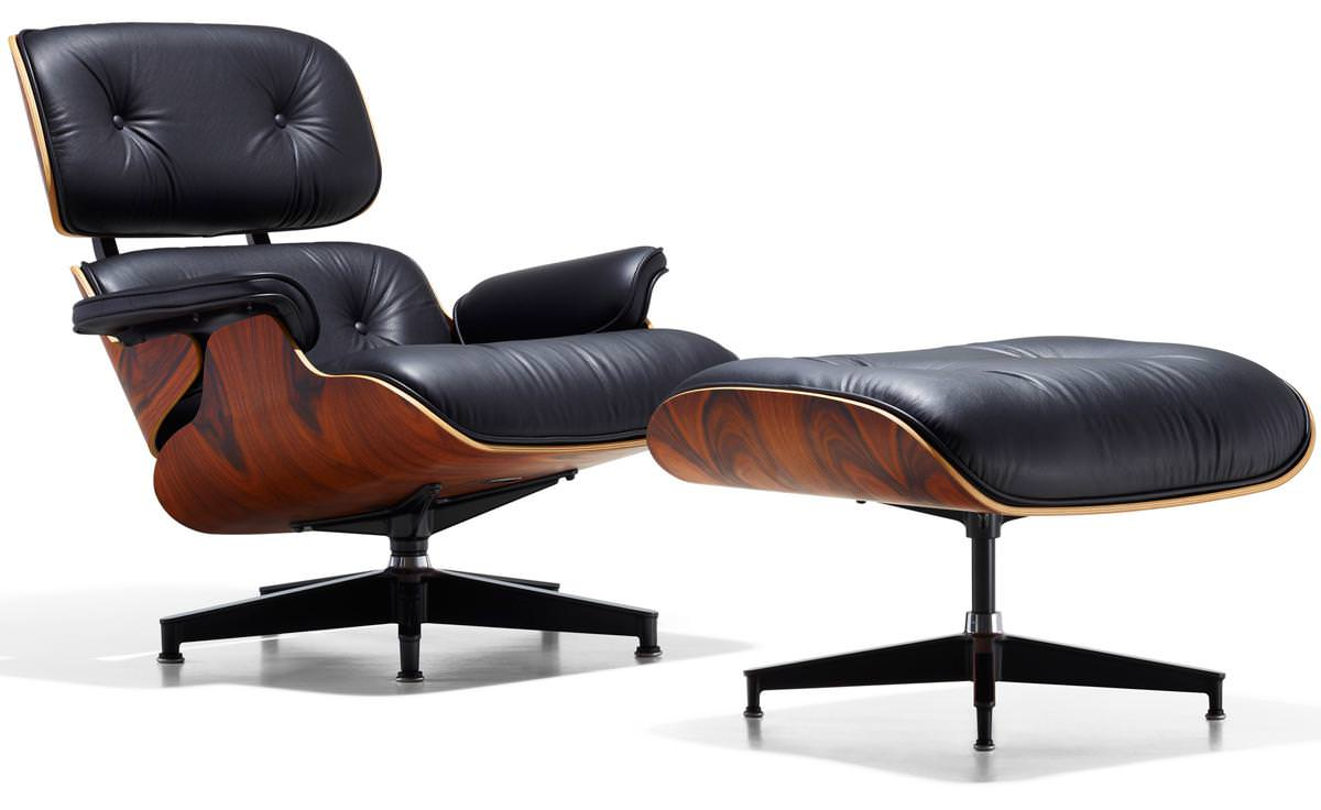 Image of: Eames Lounge Chair Original