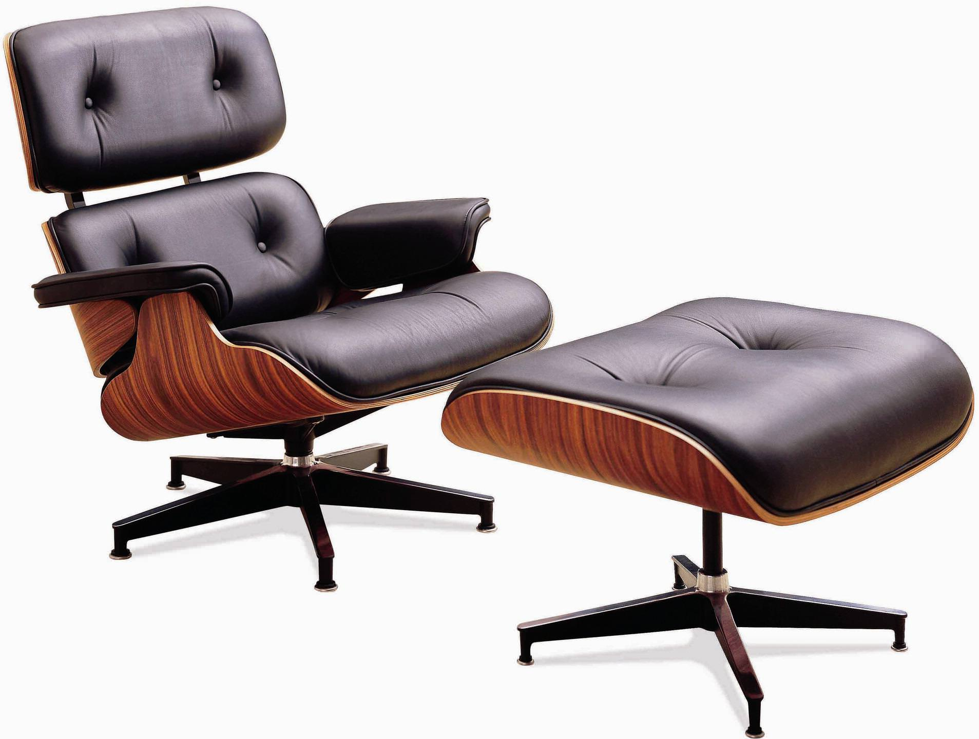 Image of: Eames Lounge Chair Ottoman