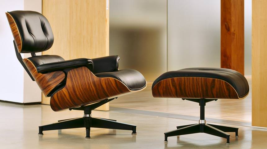 Image of: Eames Lounge Chair Replica