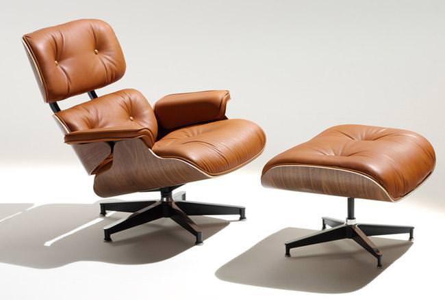 Image of: Eames Lounge Chair White