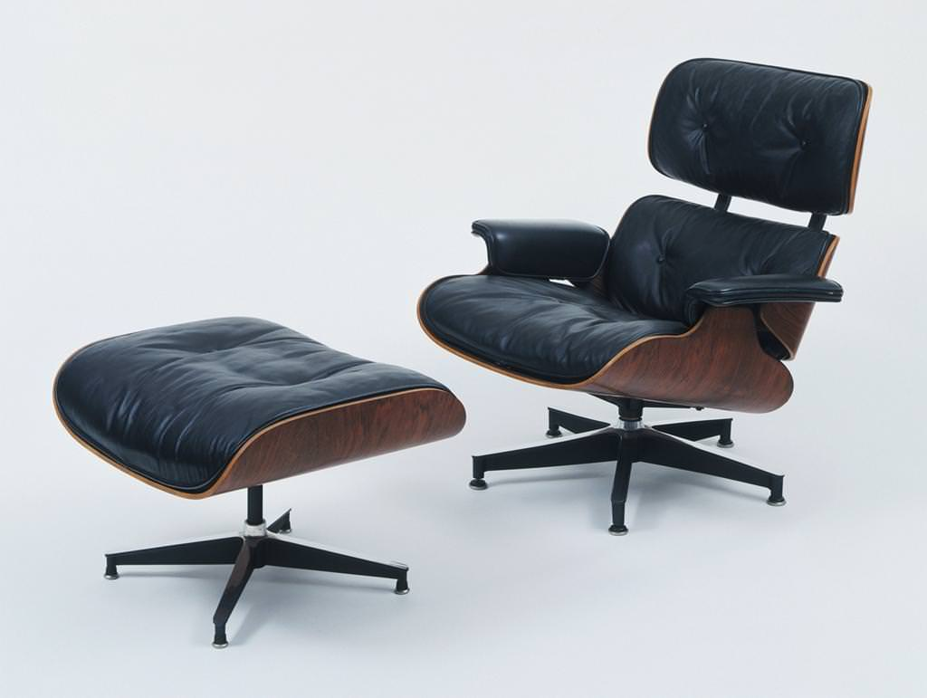 Image of: Eames Lounge Chair Wood