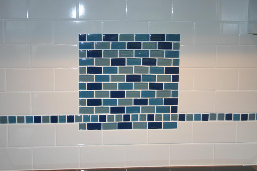 Image of: Glass Subway Tile Blue