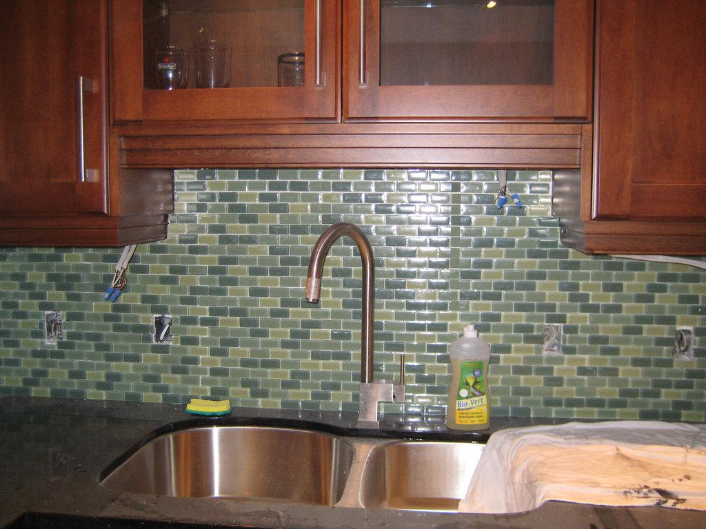 Image of: Glass Subway Tile Peel And Stick