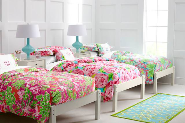 Image of: Lilly Pulitzer Bedding Blue