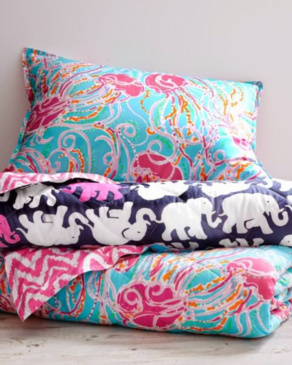 Image of: Lilly Pulitzer Floral Bedding