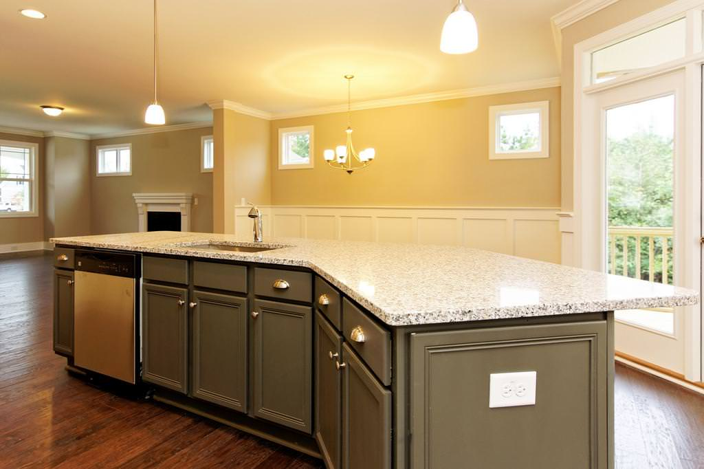 Image of: Luna Pearl Granite Outdated