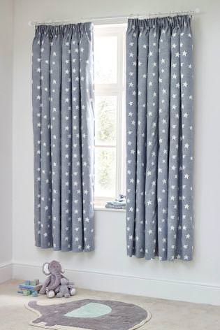 Image of: Cute Grey Nursery Blackout Curtains