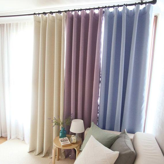 Image of: Nursery Blackout Curtains Blue
