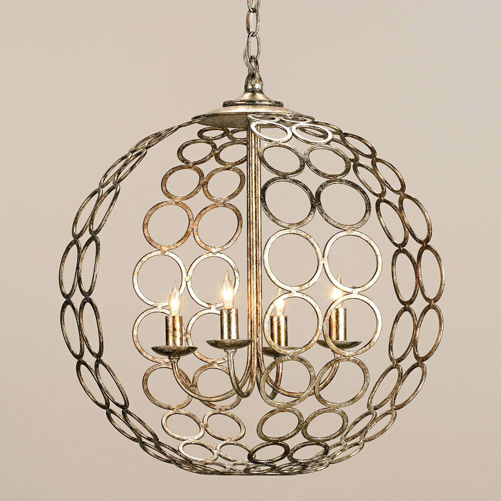 Orb Chandelier Antique Farmhouse