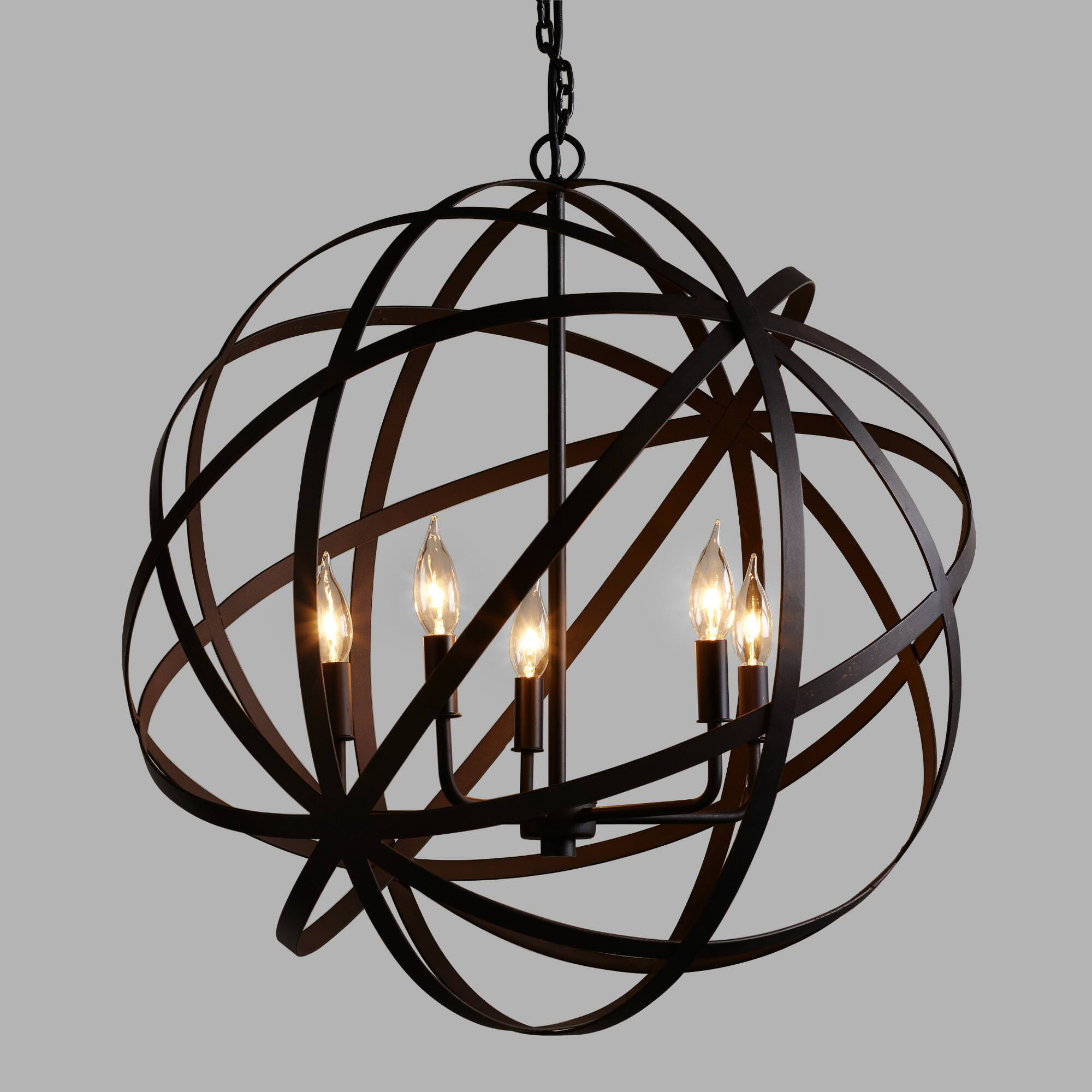 Orb Chandelier Bronze