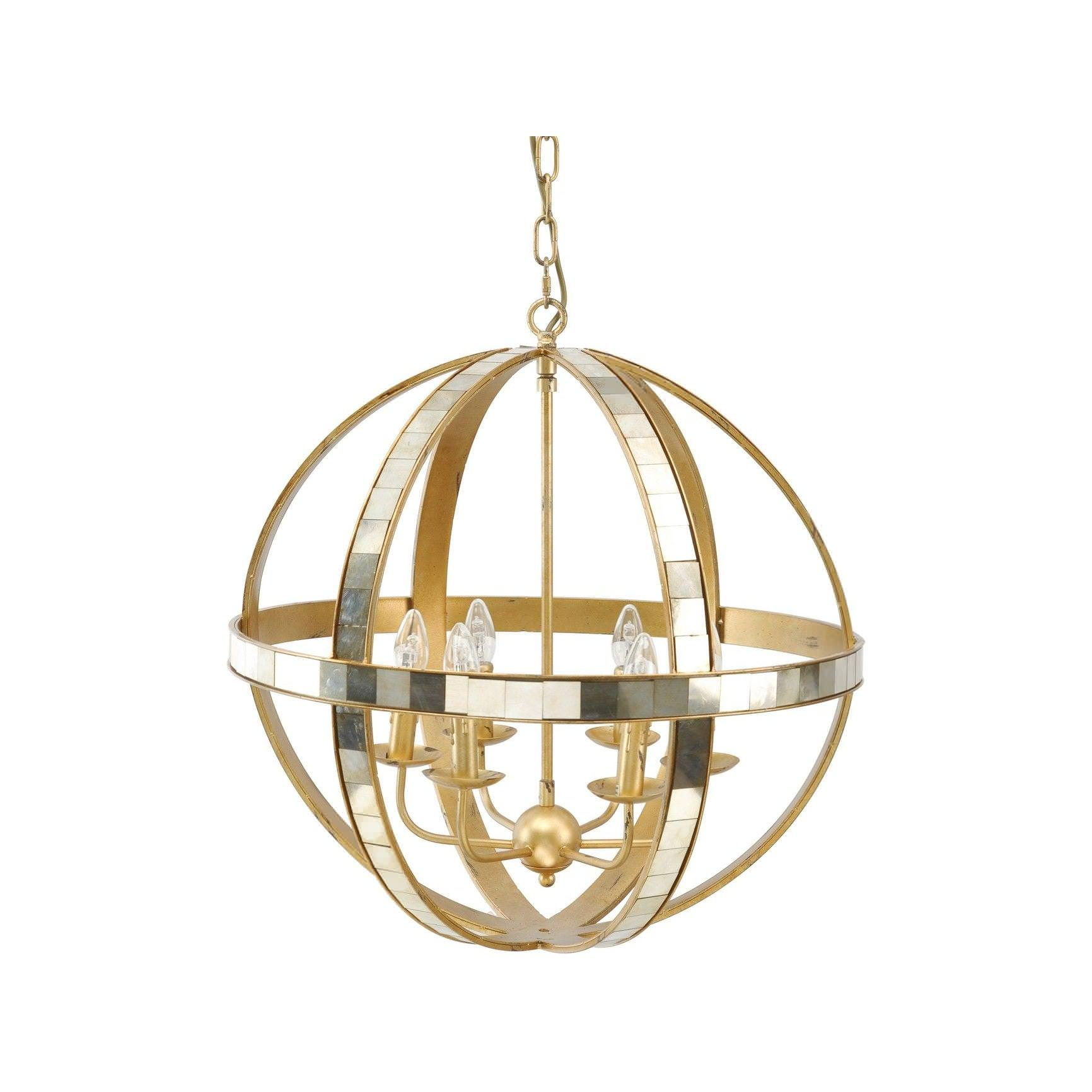 Orb Chandelier Brushed Nickel
