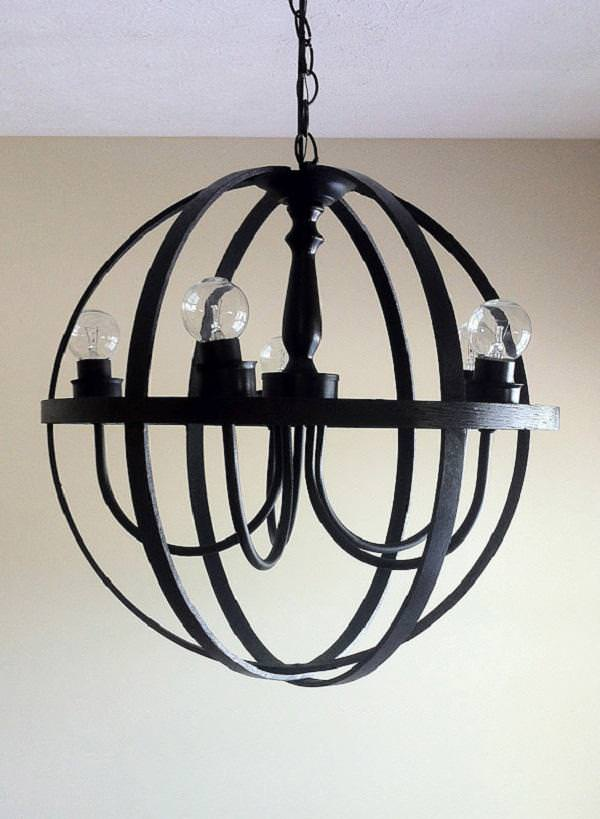 Orb Chandelier Chrome