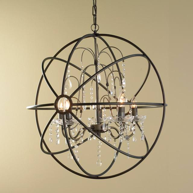 Orb Chandelier Foyer