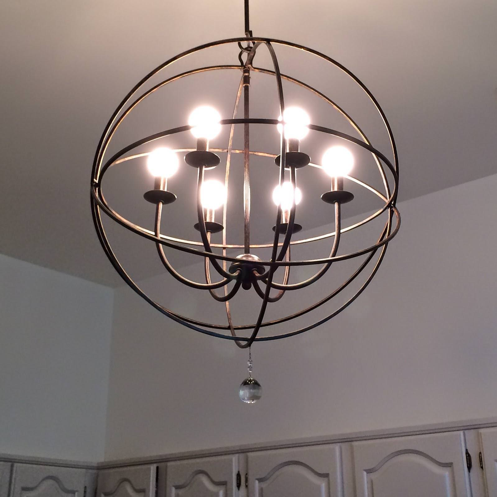 Orb Chandelier Gold