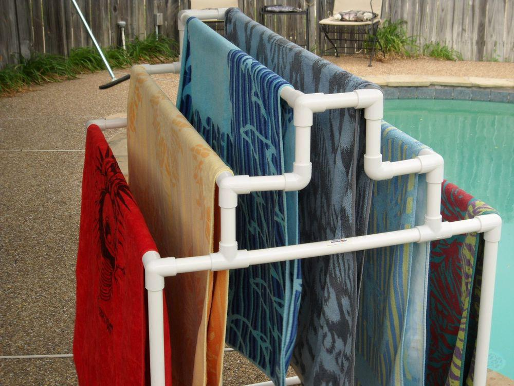 Picture of: Pool Accessories Towel Rack