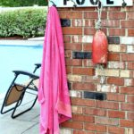 Pool Towel Rack Made From Pvc