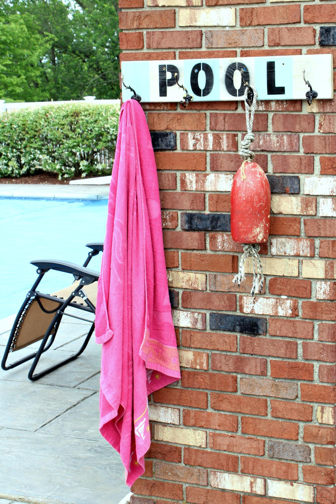 Picture of: Pool Towel Rack Made From Pvc