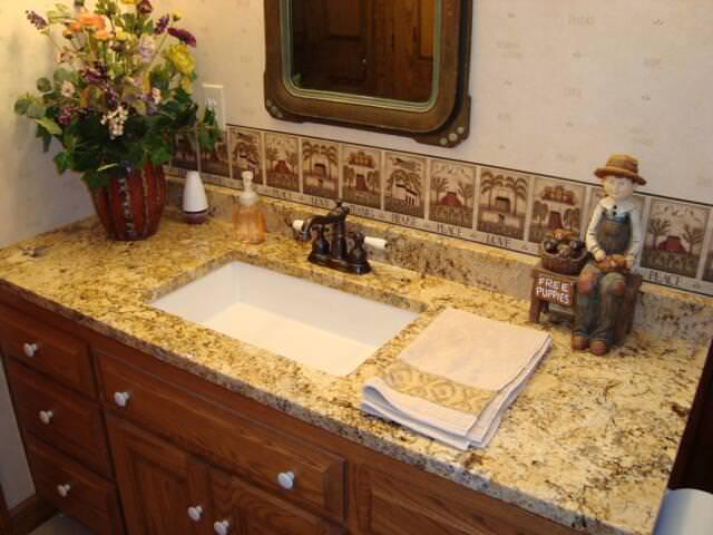 Picture of: Solarius Granite Backsplash Ideas