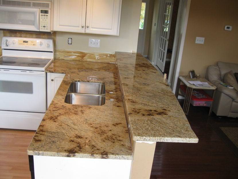 Image of: Solarius Granite Kitchen Pictures