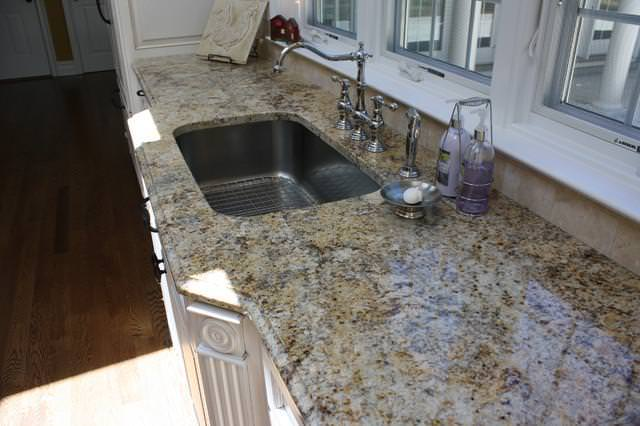 Image of: Solarius Granite White Cabinets