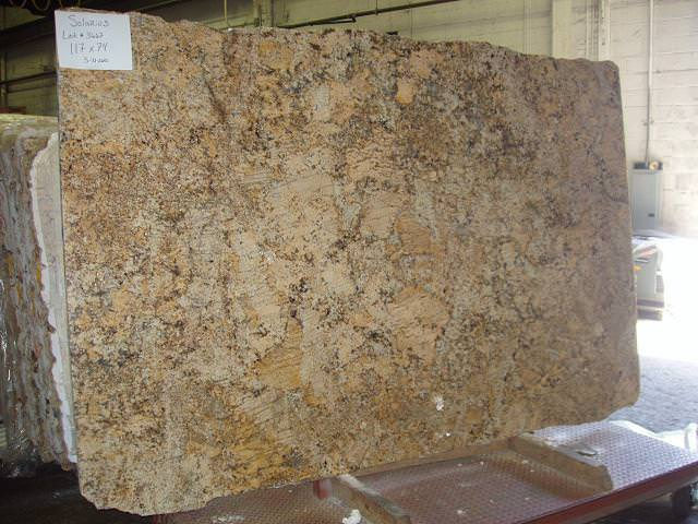 Picture of: Solarius Granite With Tile Backsplash