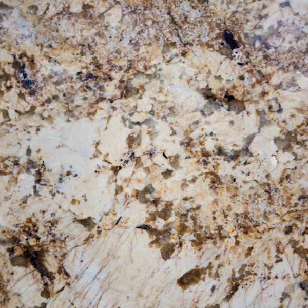 Image of: Solarius Granite With White Cabinets