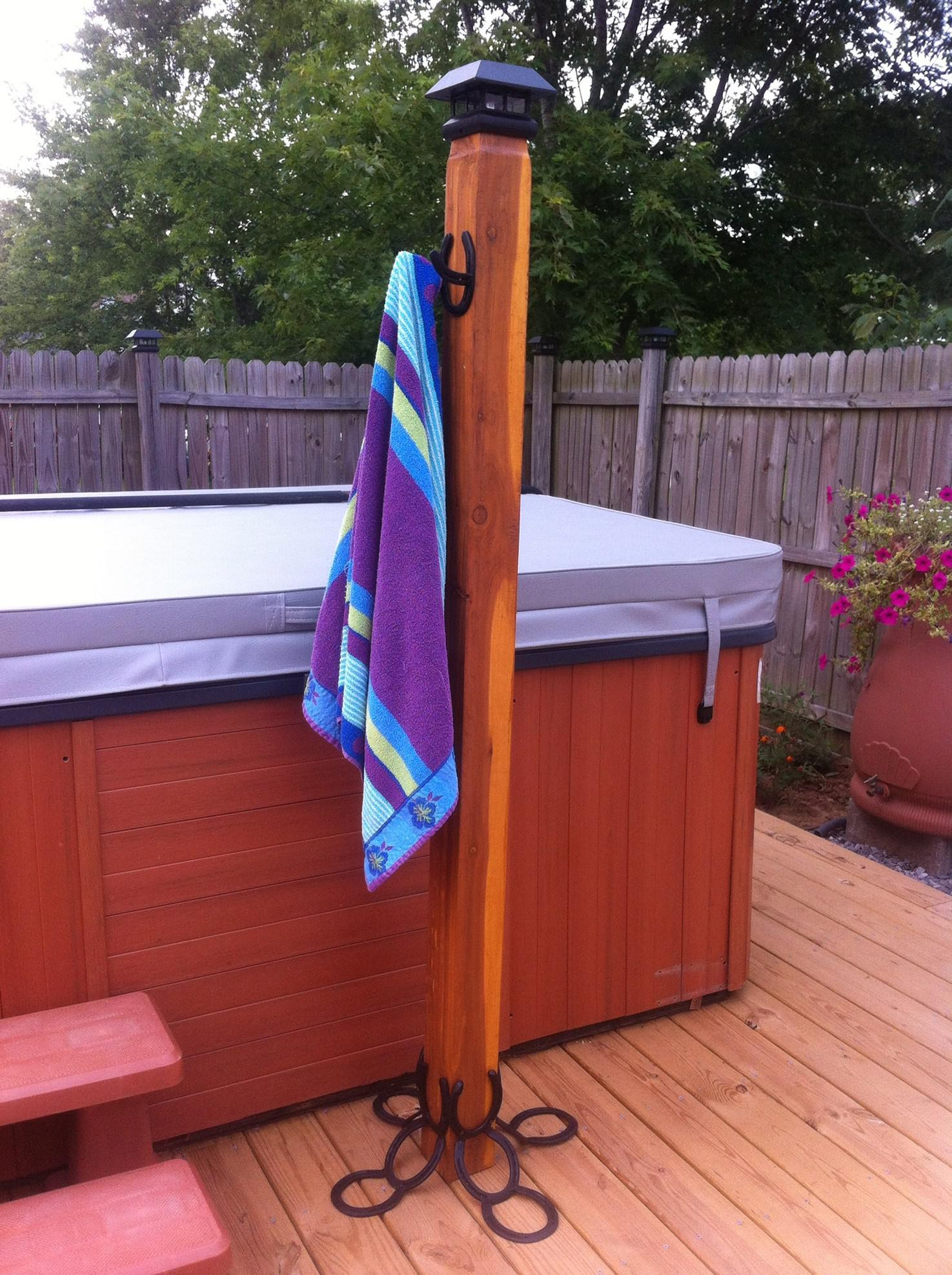 Picture of: Swimming Pool Towel Rack